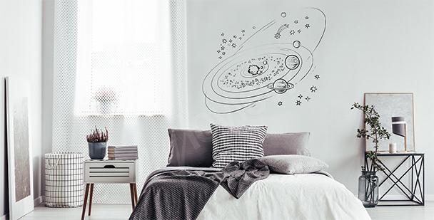 Vinilo minimalista galaxia