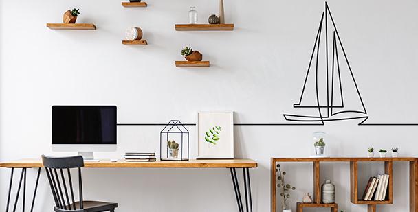 Vinilo minimalista para oficina