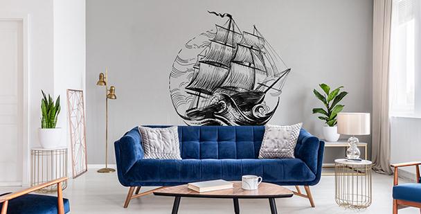 Vinilo monocromático con barco