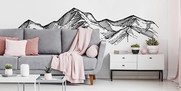 Vinilo monocromático con montaña