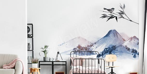 Vinilo montañas para el dormitorio