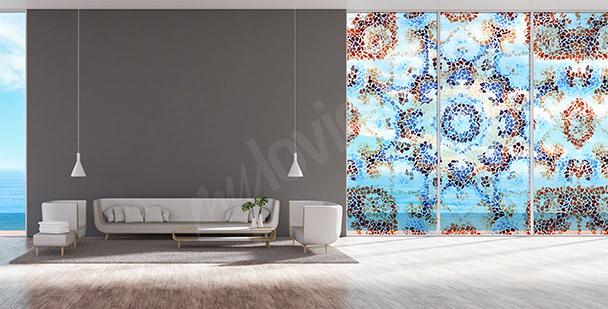 Vinilo mosaico geométrico