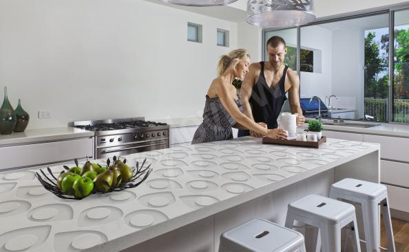 Vinilo motivo en 3d para encimeras de cocina