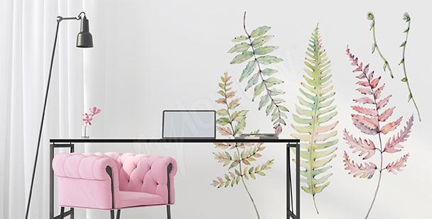 Vinilo naturaleza para la sala de estar