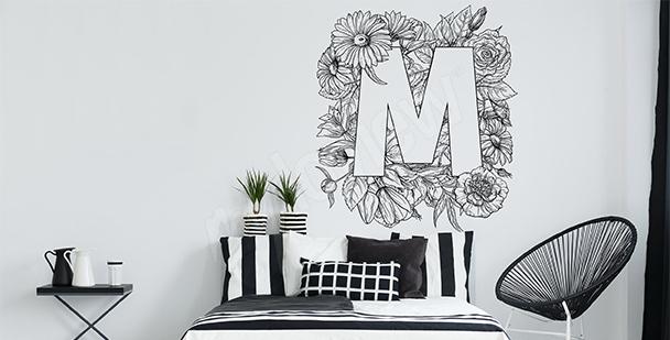 Vinilo naturaleza para un dormitorio