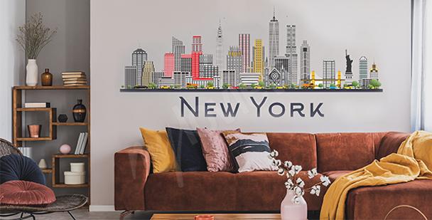 Vinilo Nueva York para sala