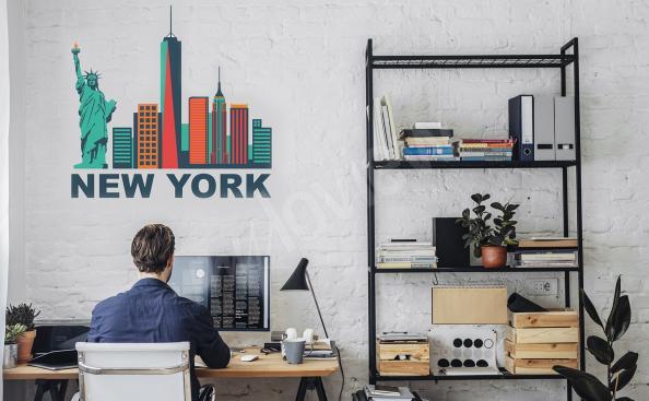 Vinilo Nueva York - Rascacielos