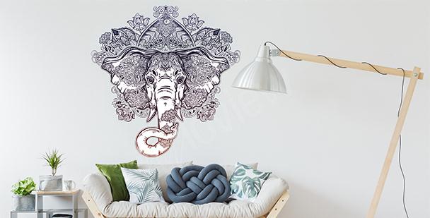 Vinilo ornamento con un elefante