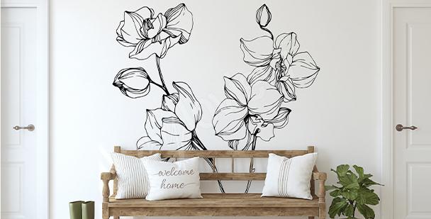 Vinilo orquídea minimalista