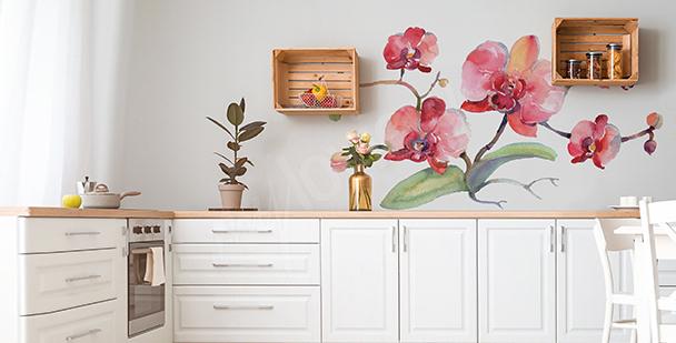 Vinilo orquídea para cocina