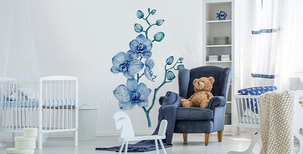 Vinilo orquídea para cuarto de niño