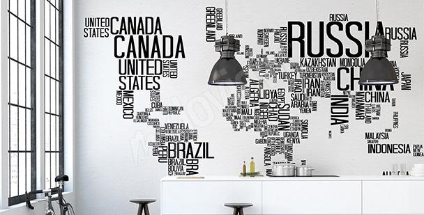 Vinilo países del mundo