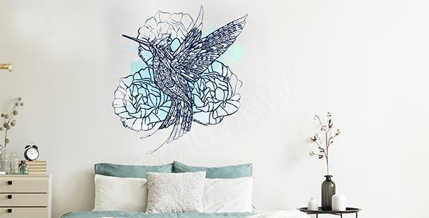 Vinilo pájaro para dormitorio