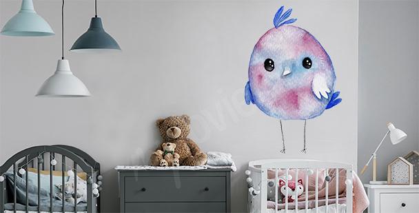 Vinilo pájaro para la habitación de un niño
