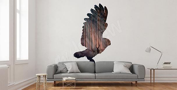 Vinilo pájaro volando
