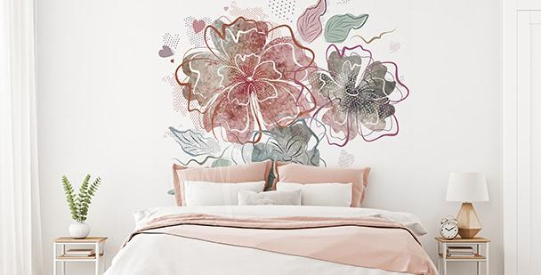 Vinilo para dormitorio: flores