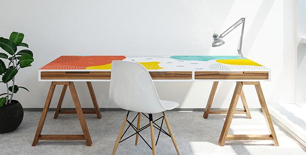 Vinilo para escritorio en estilo pop art