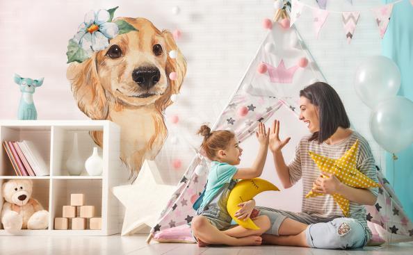 Vinilo para la habitación de un niño un perro