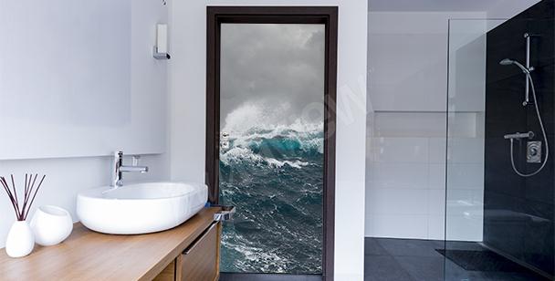 Vinilo para la puerta del baño