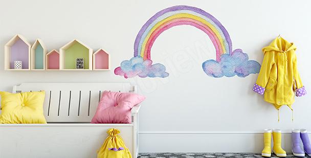 Vinilo para niña: arco iris