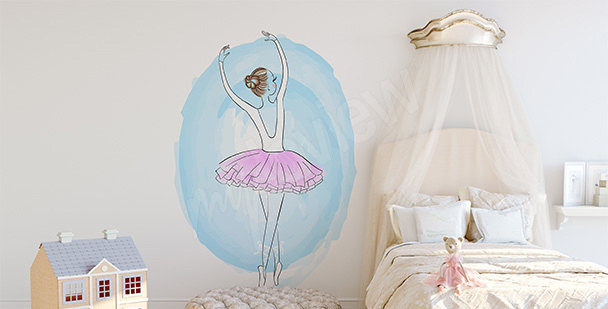 Vinilo para niña: bailarina de ballet