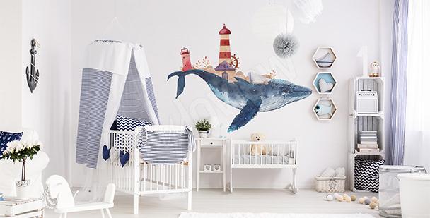 Vinilo para niño: ballena