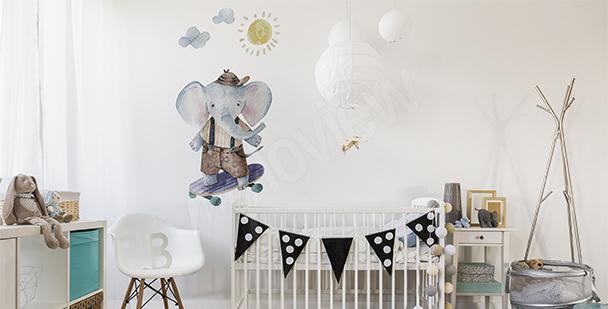 Vinilo para niño: elefante