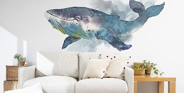 Vinilo para sala de estar: ballena