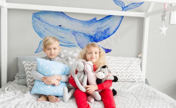 Vinilo para una habitación infantil ballena