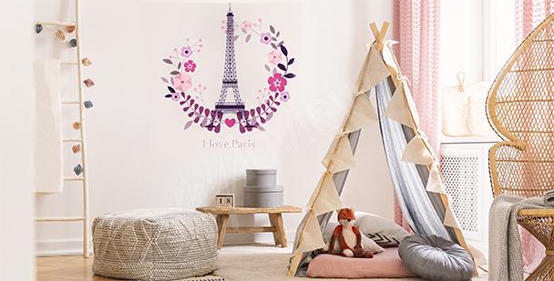 Vinilo París para la habitación de un niño