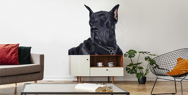 Vinilo perro para la sala de estar