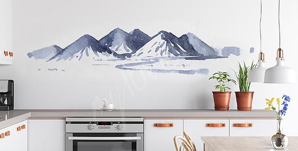 Vinilo pintado con acuarela para la cocina