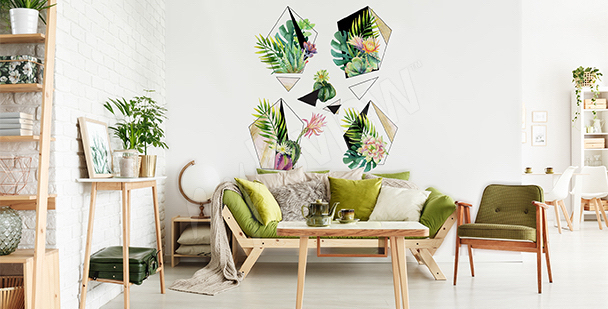 Vinilo plantas para sala de estar ecol