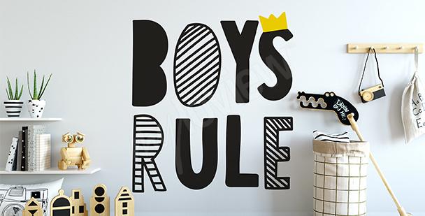 Vinilo reglas de niños