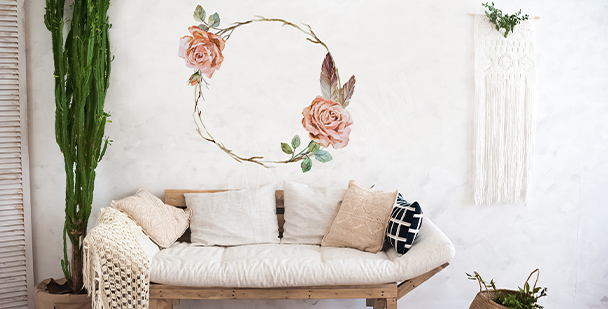 Vinilo shabby chic rosas