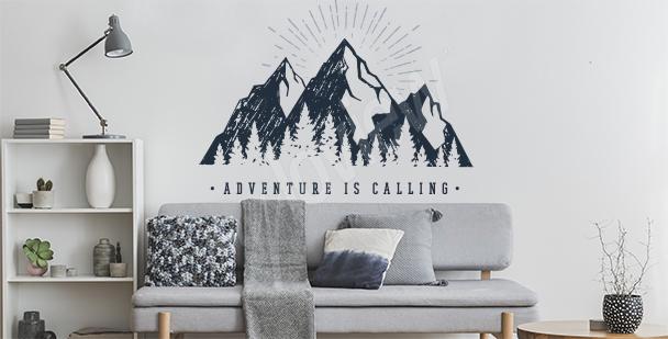 Vinilo tipográfico montañas