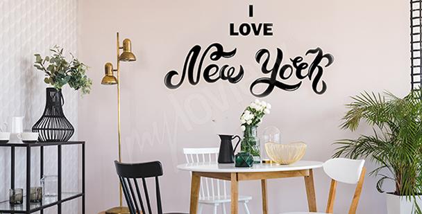 Vinilo tipográfico Nueva York