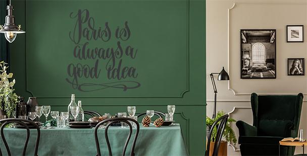 Vinilo tipográfico París