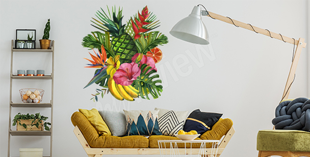 Vinilo tropical para la sala de estar