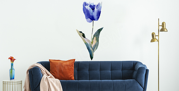 Vinilo tulipán azul