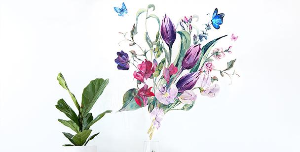 Vinilo tulipanes para sala