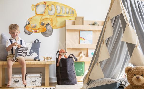 Vinilo vehículo para cuarto de niño