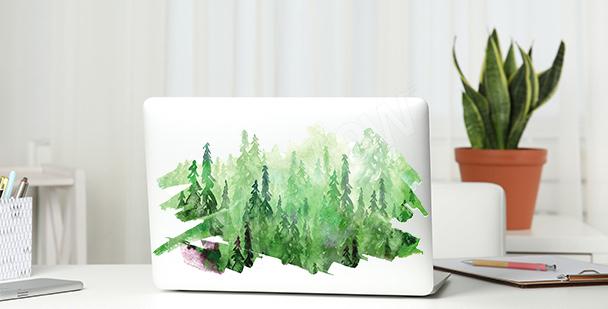 Vinilo verde con acuarela