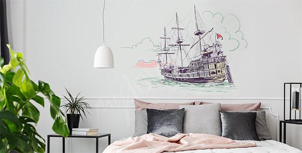 Vinilo viejo barco