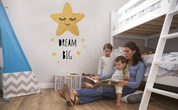 Vinilos estrellas para la habitación de un niño